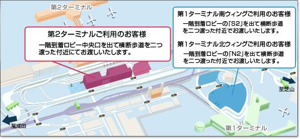 成田空港駐車場ニコニコパーキング&ココ お返しマップ